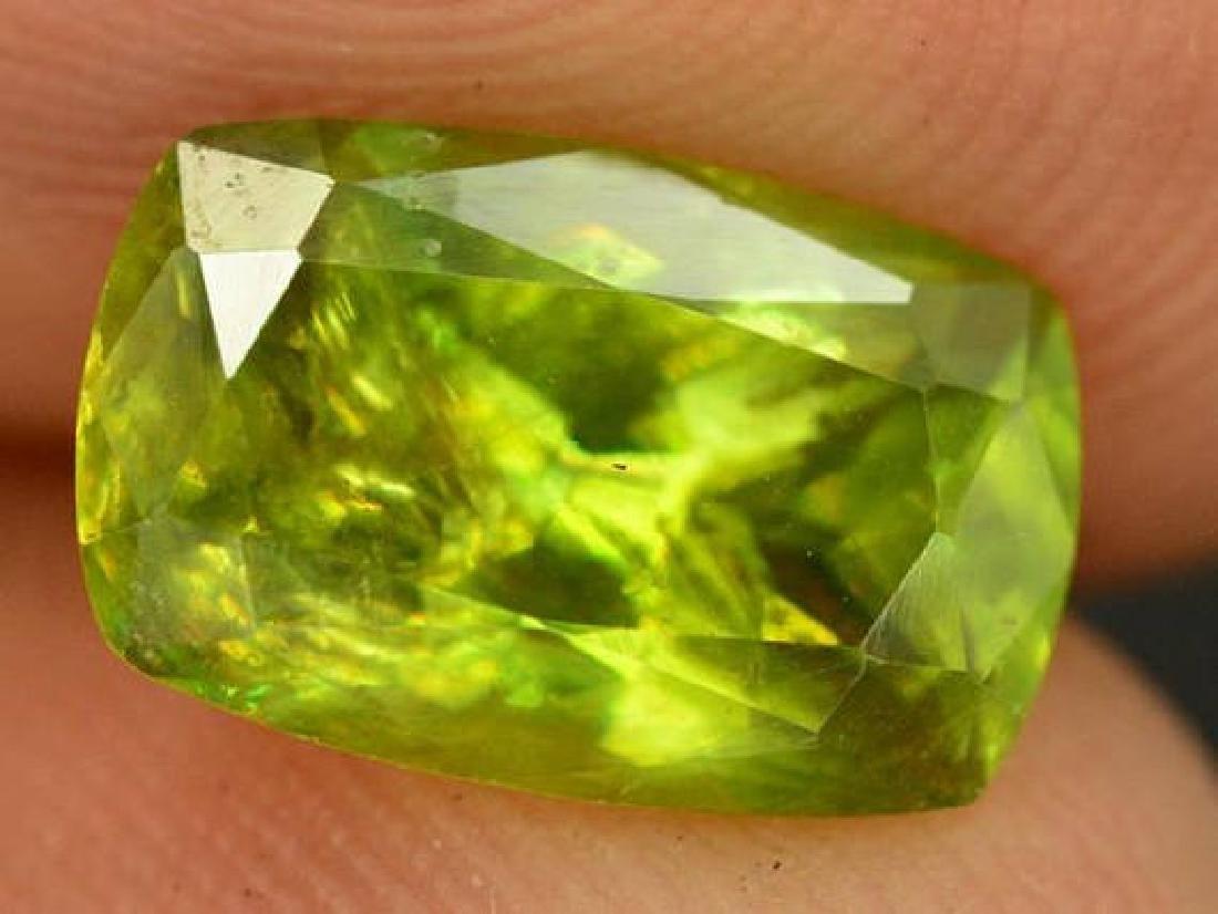 2.80 cts Rare Full Fire Green Sphene Titanite Gemstone