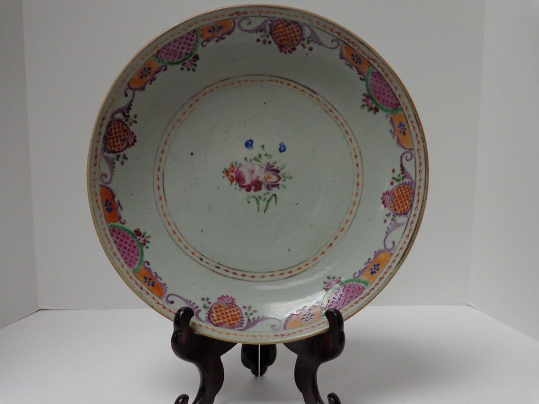 Chinese Antique Qianlong 18th Century Low Bowl or Fruit