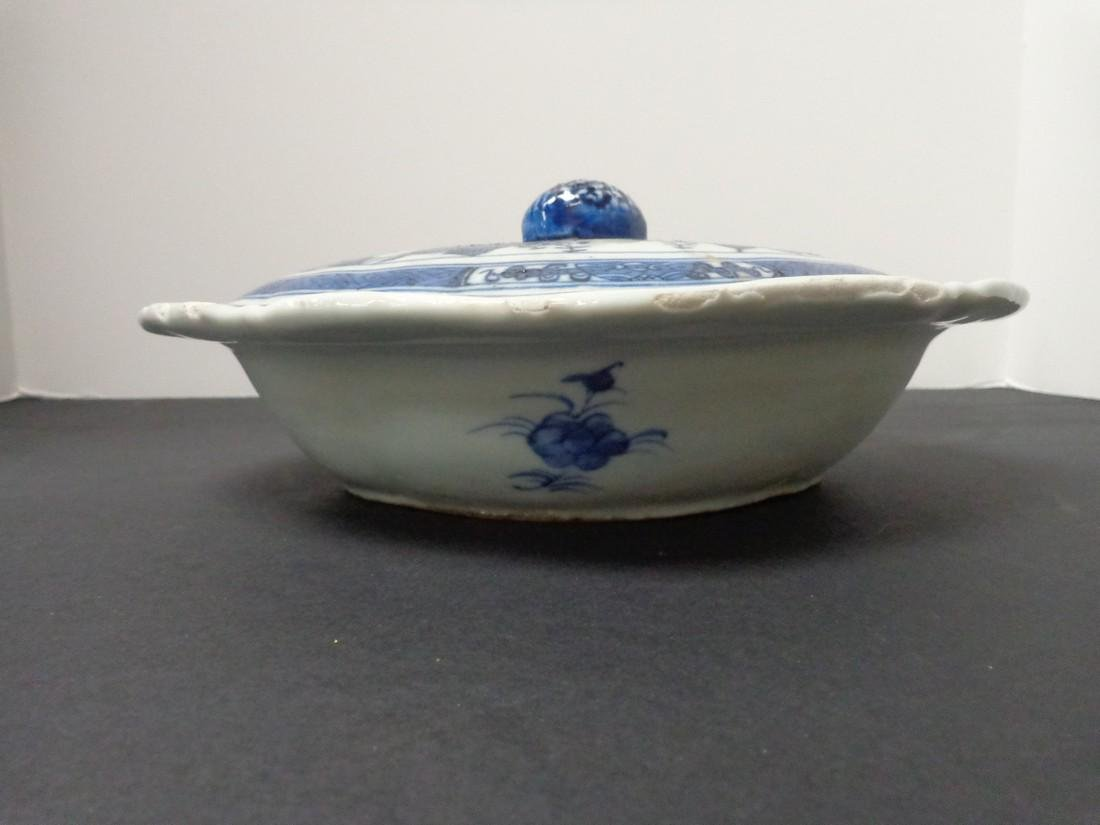 Chinese Export Vintage 19th Century Blue & White - 4