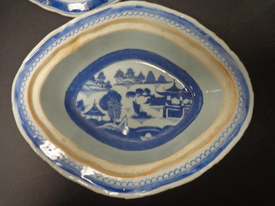 Chinese Export Vintage 19th Century Blue & White - 7