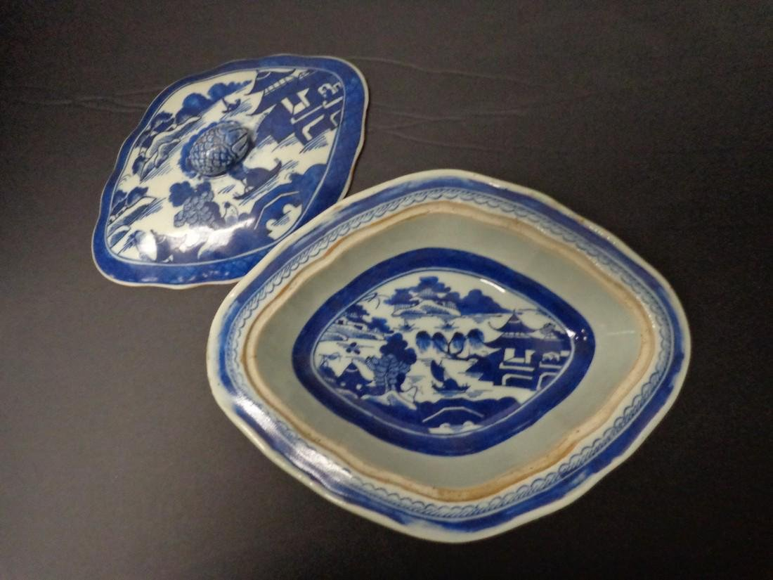 Chinese Export Vintage 19th Century Blue & White - 6