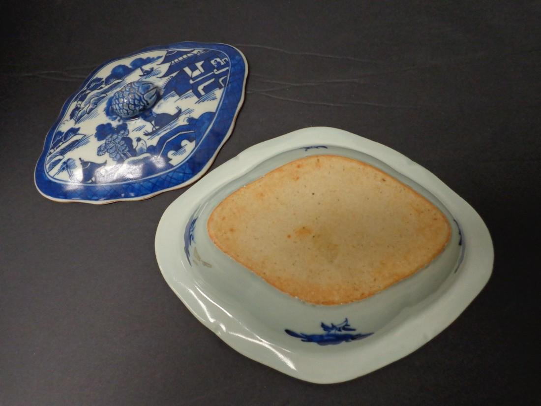 Chinese Export Vintage 19th Century Blue & White - 8