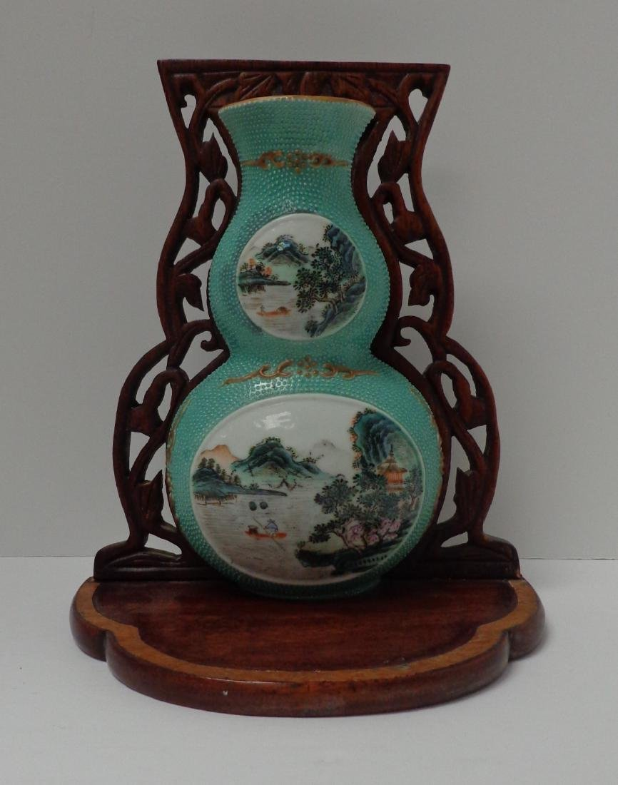 Chinese Antique Very Rare Porcelain Double Gourd - 7