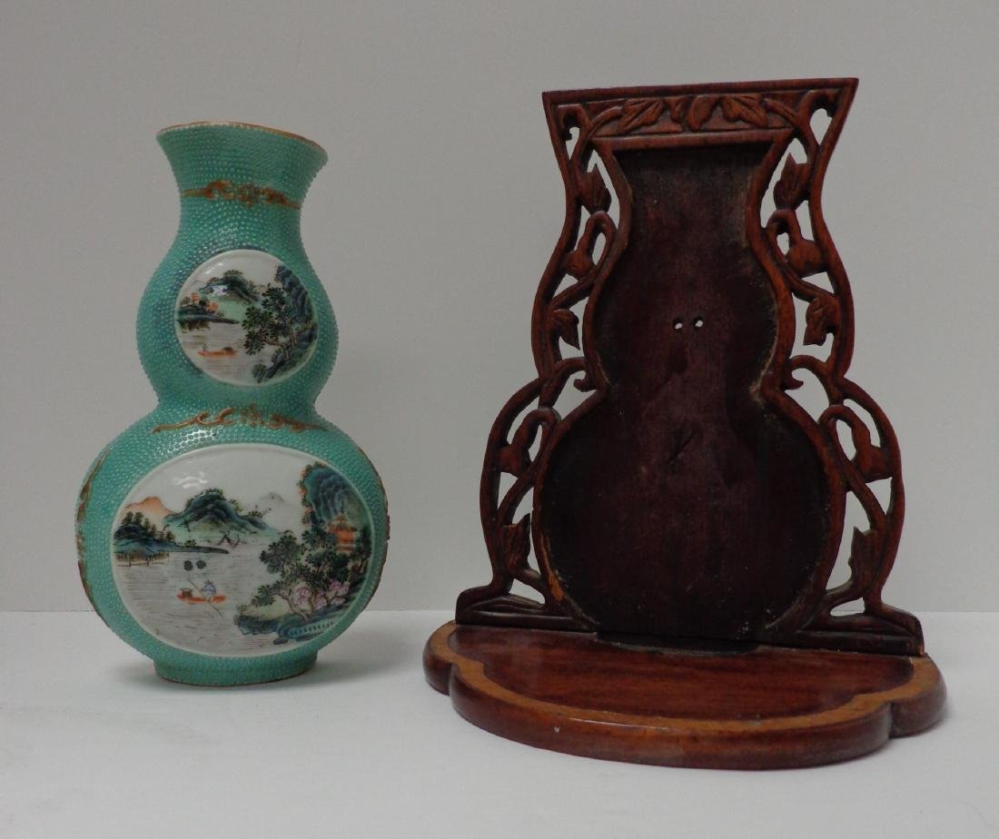 Chinese Antique Very Rare Porcelain Double Gourd - 8