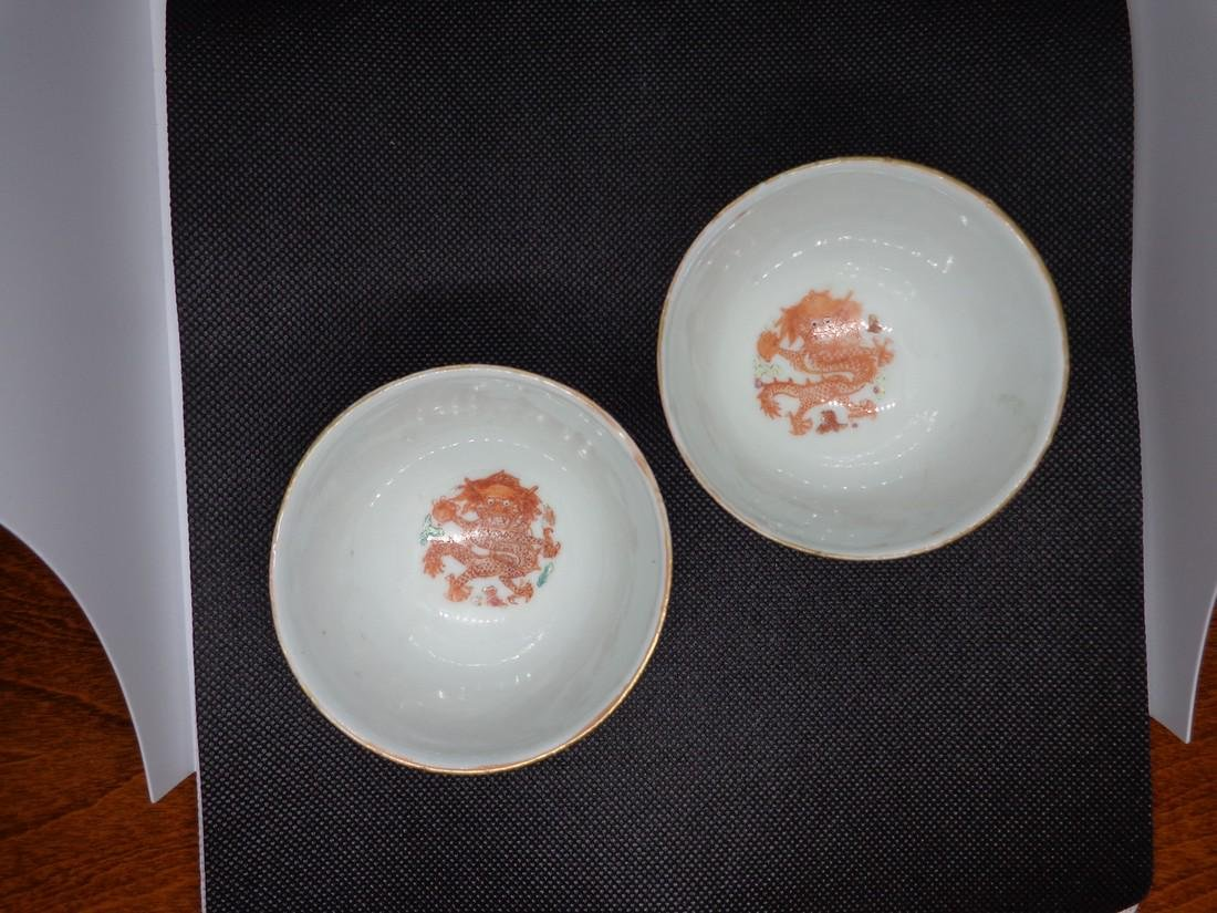 Chinese Antique Guangxu Period Pair of Marked Porcelain - 5