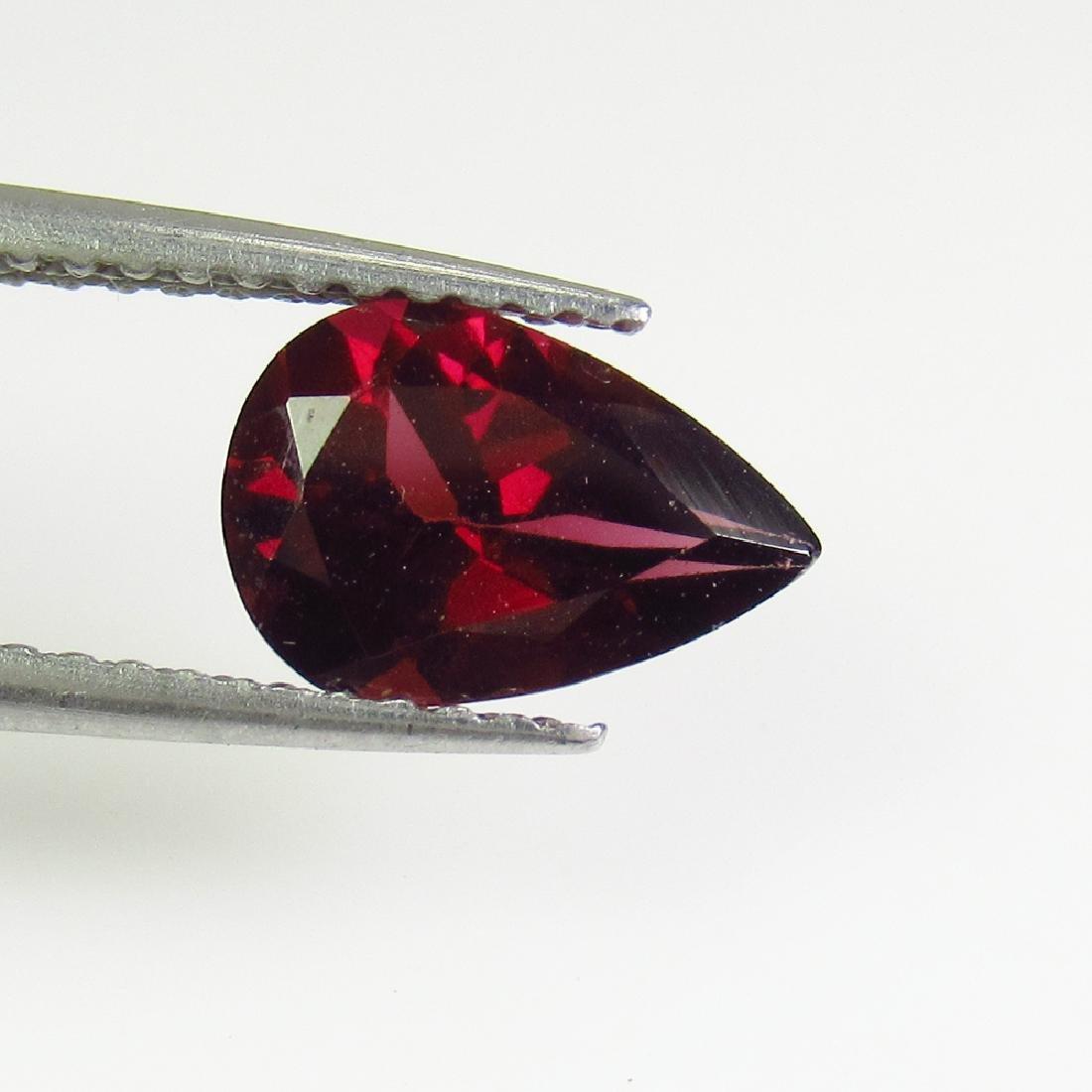 1.56 Ctw Natural Pink Rhodolite Garnet 9X6 mm Pear cut
