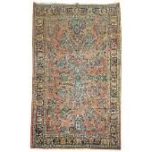 Antique Persian Sarouk Intermediate Size Rug
