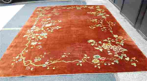 Cir 1920s ANTIQUE MINT ART DECO ROOM SIZE CHINESE