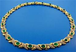 GROOVY French 18k Yellow Gold, Diamond & Cabochon