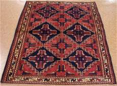 PERSIAN AFSHARR Tribal Nomadic Hand Knotted Wool RED