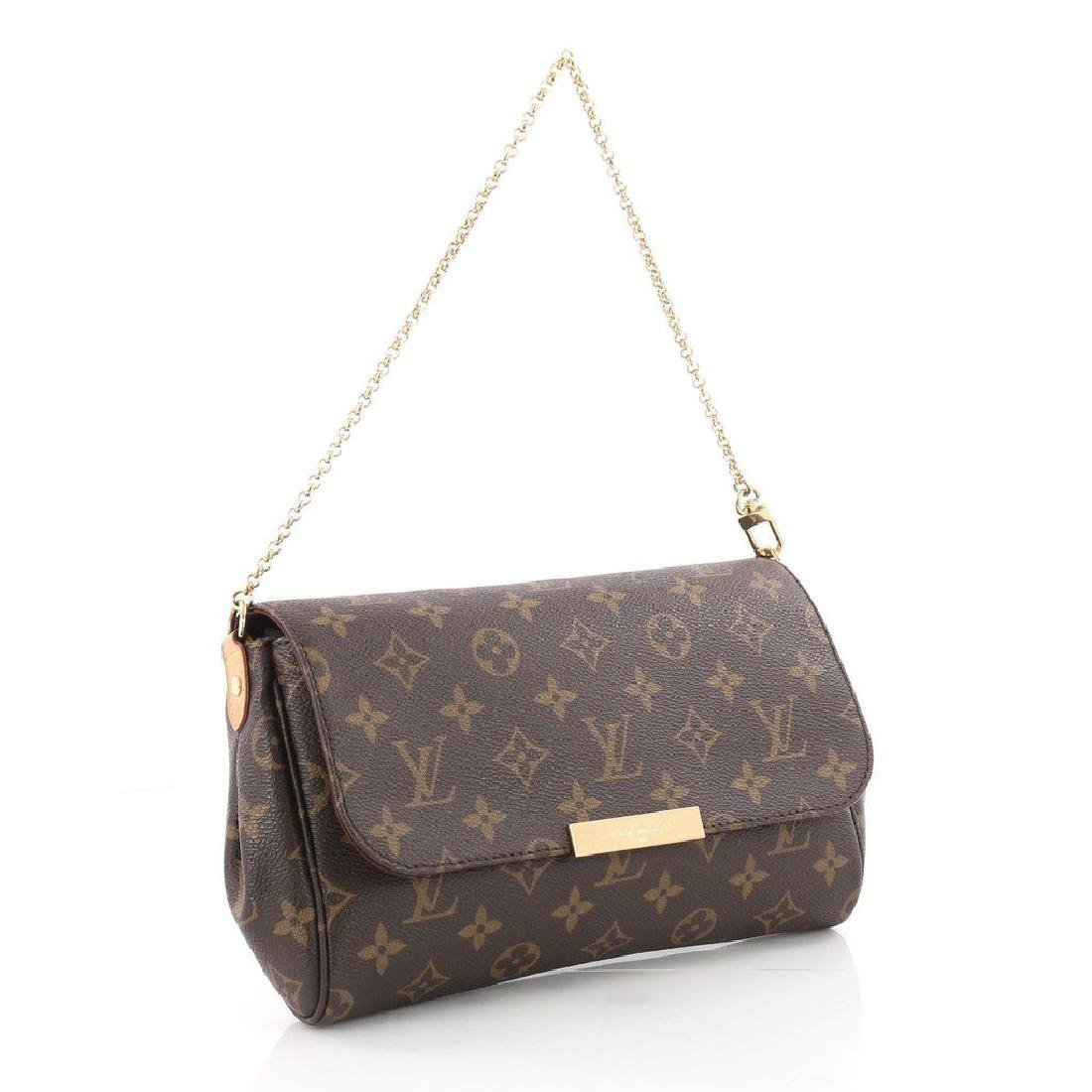 Authentic Louis Vuitton Favorite MM Crossbody Bag with - 2