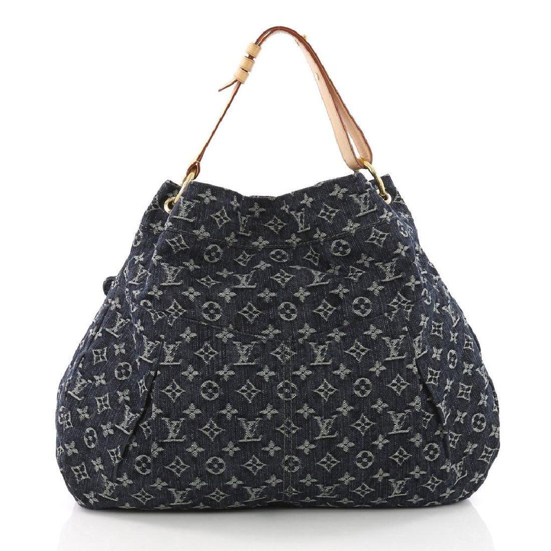 Louis Vuitton Daily Gm Jean Gris Bleu Denim Hobo Bag - 2