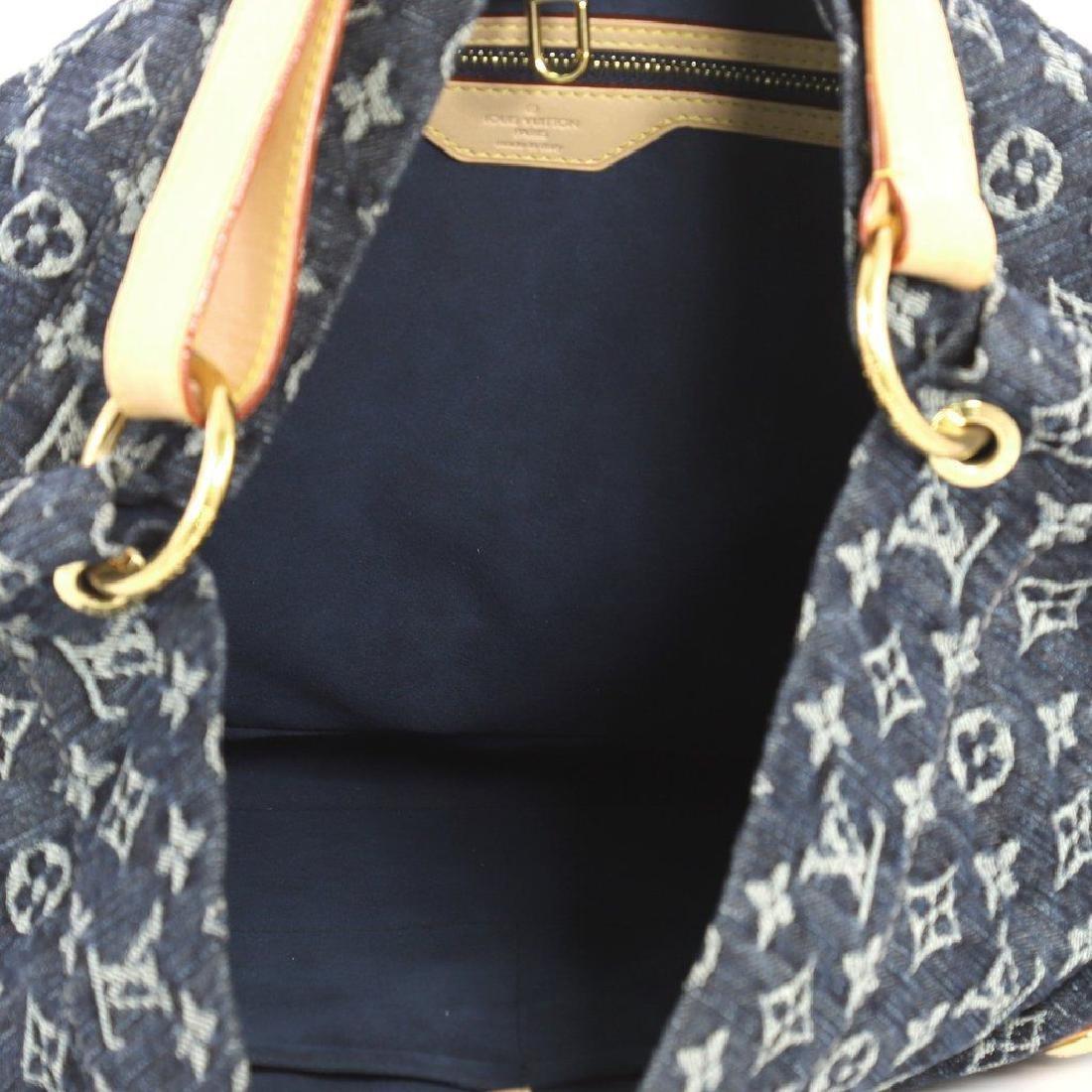 Louis Vuitton Daily Gm Jean Gris Bleu Denim Hobo Bag - 4