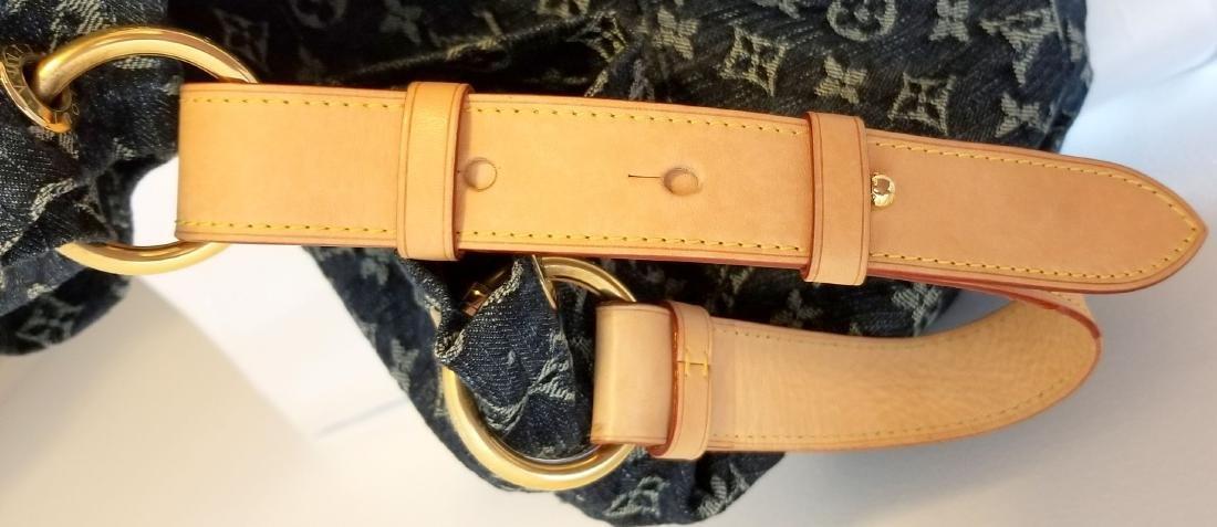 Louis Vuitton Daily Gm Jean Gris Bleu Denim Hobo Bag - 9