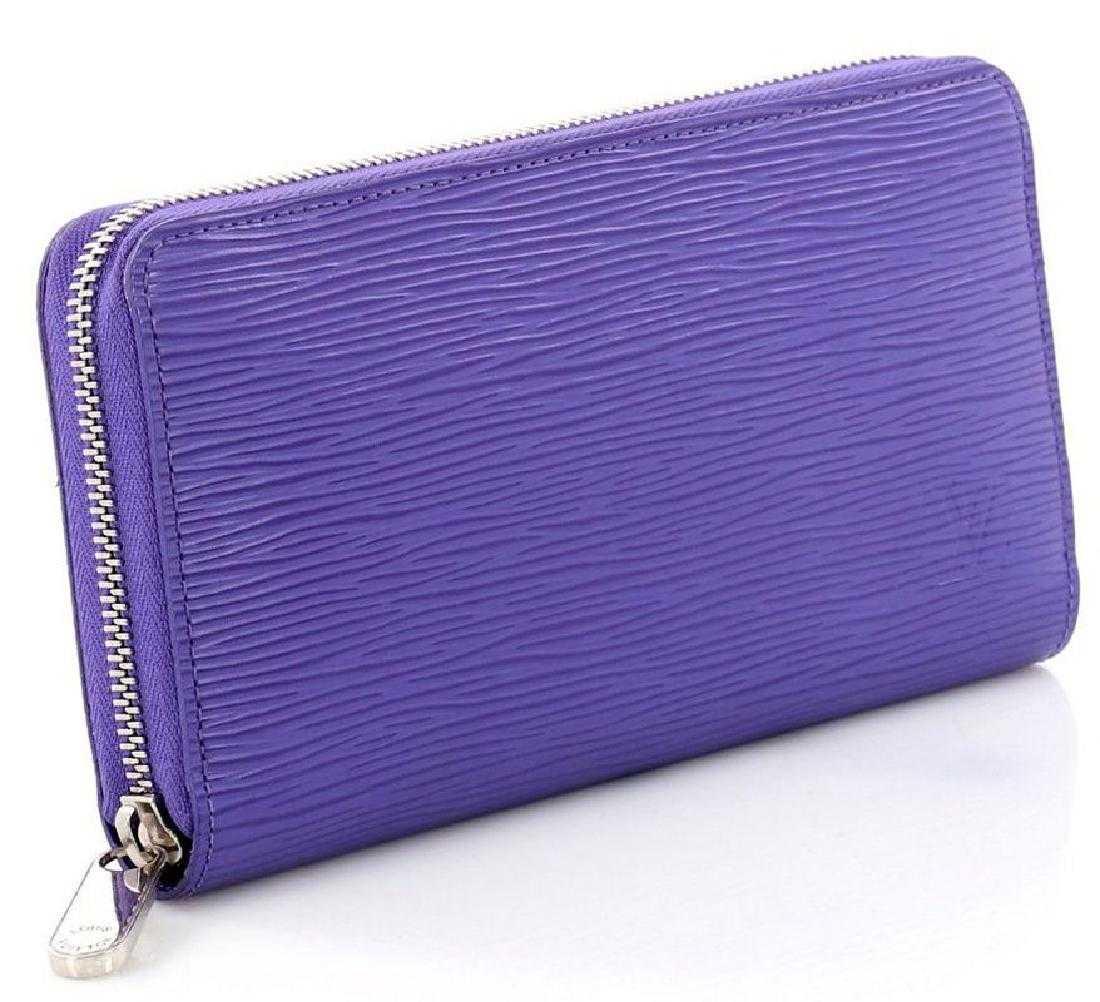 86b97f35cf17 Louis Vuitton Zippy Wallet Epi Leather Purple