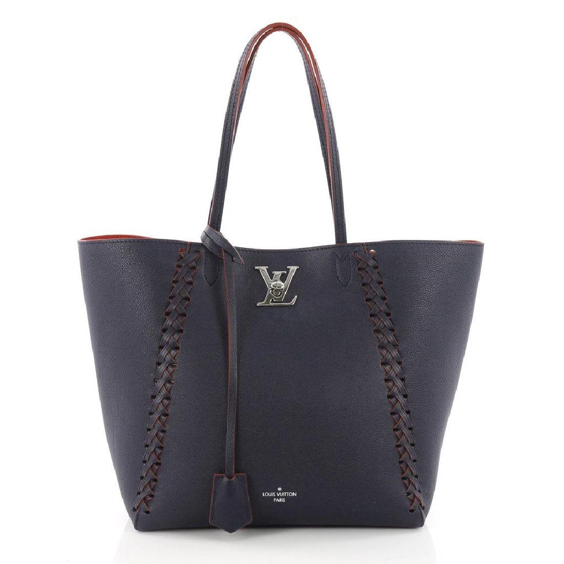 Louis Vuitton Cabas Lockme Braided Shoulder Blue