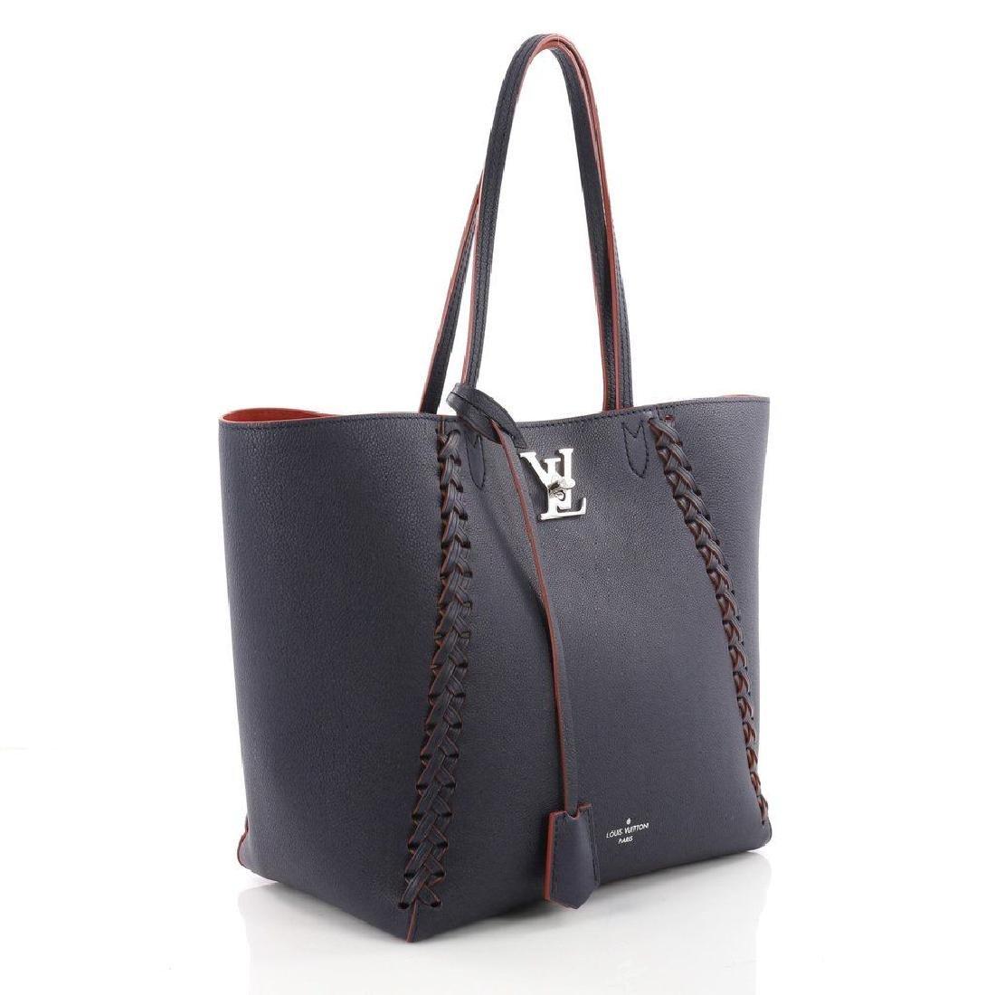 Louis Vuitton Cabas Lockme Braided Shoulder Blue - 2
