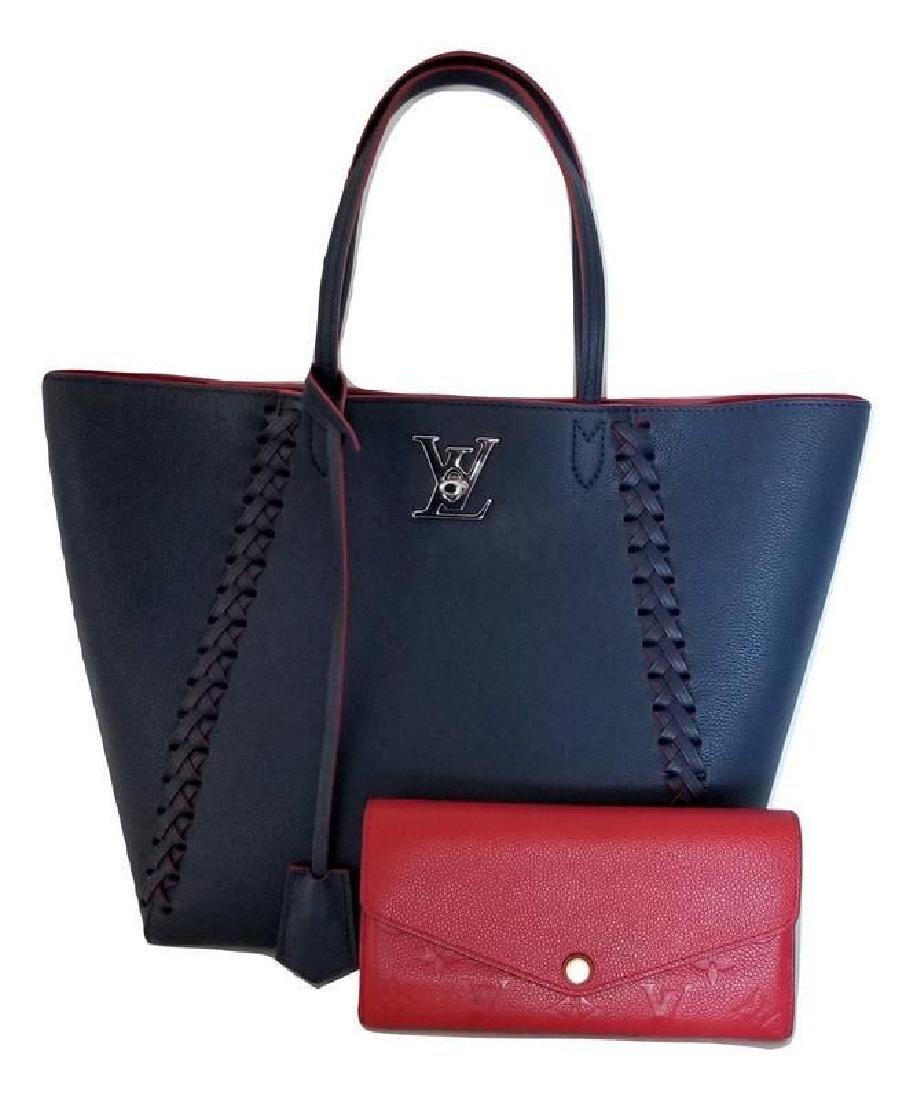 Louis Vuitton Cabas Lockme Braided Shoulder Blue - 9
