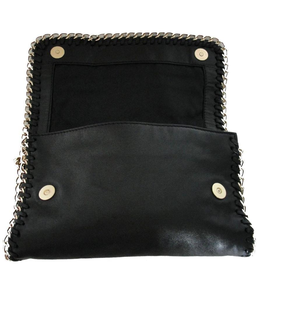Michael Kors Cross Body Bag Red Black Fur Chain - 5