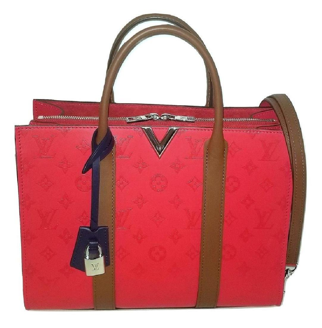 Authentic Louis Vuitton Very Tote Red Monogram Leather