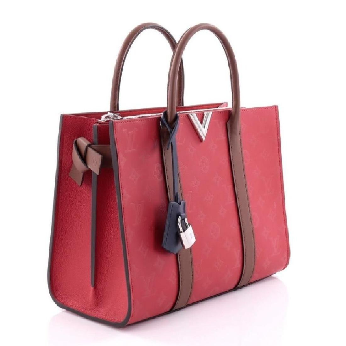 Authentic Louis Vuitton Very Tote Red Monogram Leather - 2