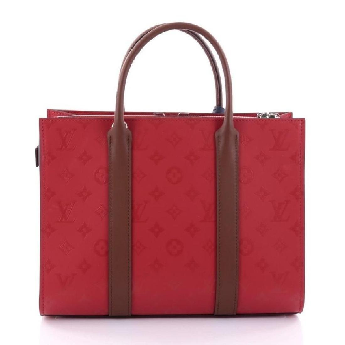 Authentic Louis Vuitton Very Tote Red Monogram Leather - 3