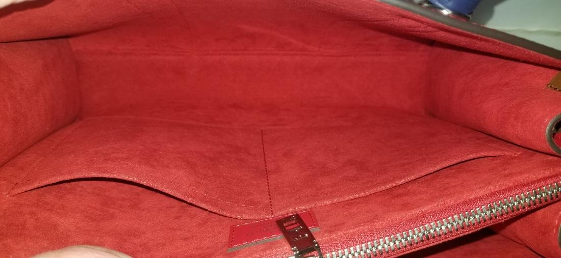 Authentic Louis Vuitton Very Tote Red Monogram Leather - 5