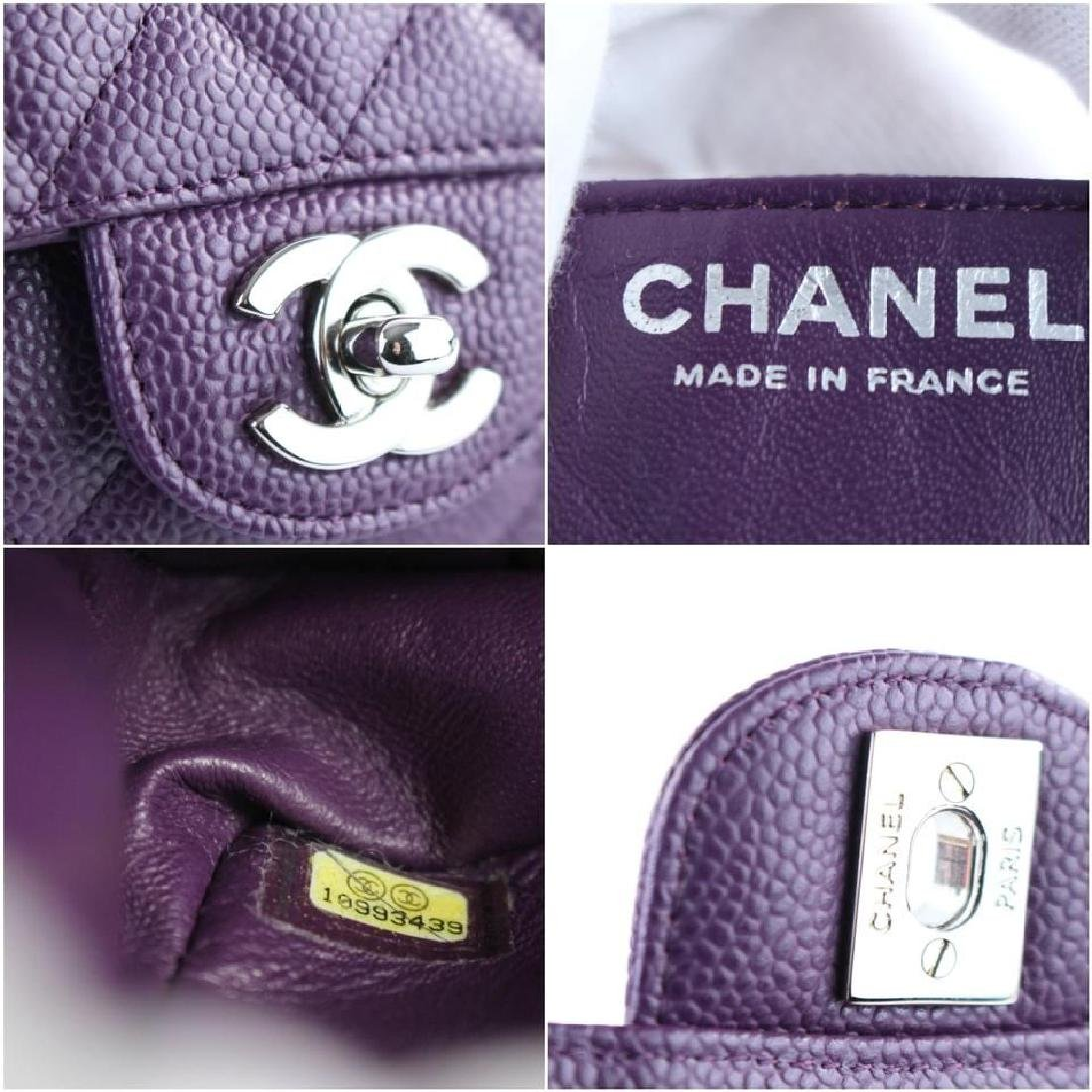 Chanel Purple Caviar Leather East West Classic Flap - 4