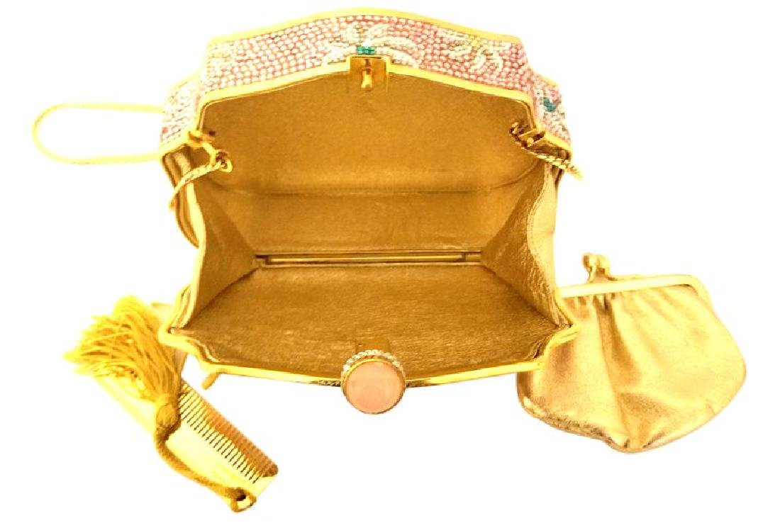 Judith Leiber Crystal Floral Minaudiere Chain Bag - 4