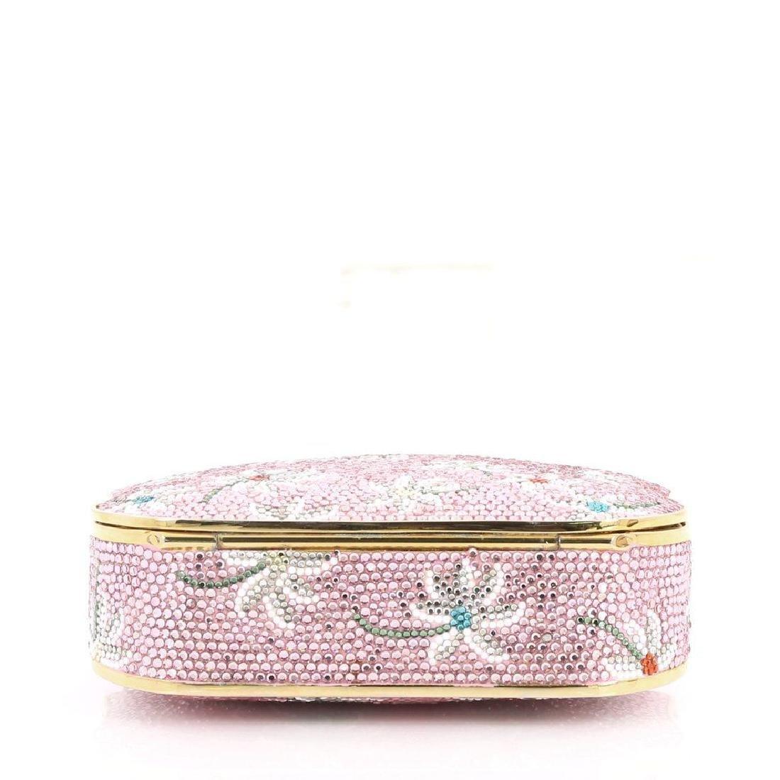 Judith Leiber Crystal Floral Minaudiere Chain Bag - 8