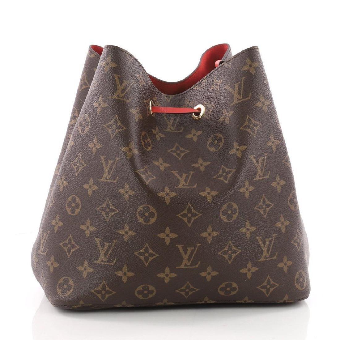 Louis Vuitton Neonoe Monogram Bucket Bag Drawstring - 3
