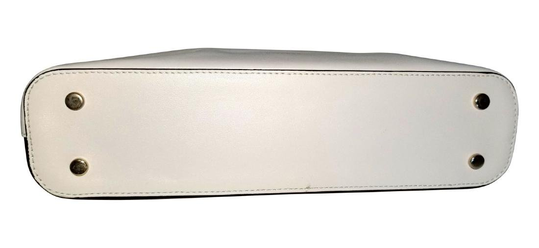 RARE Uterque Clutch Leather Bag White Black from Spain - 7