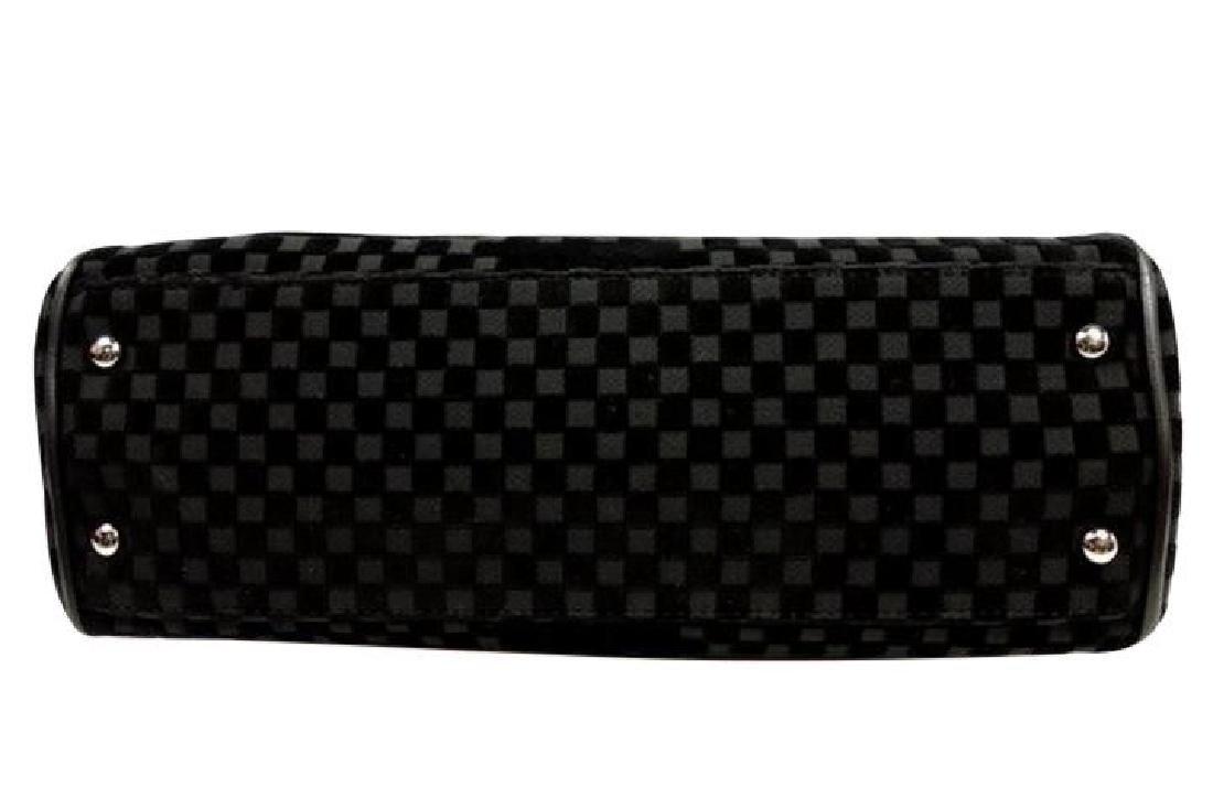 Chanel East West Velvet Velour Black Shoulder Bag Dual - 7