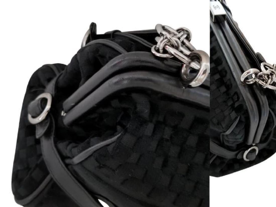 Chanel East West Velvet Velour Black Shoulder Bag Dual - 8