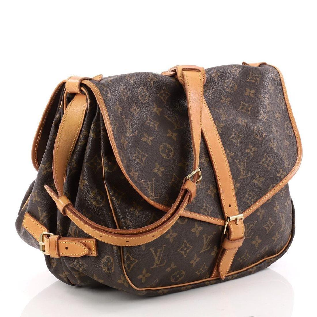 Louis Vuitton Monogram Saumur 35 GM Postal Shoulder Bag