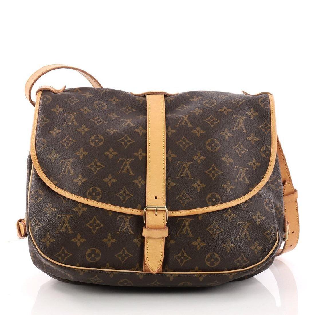Louis Vuitton Monogram Saumur 35 GM Postal Shoulder Bag - 2