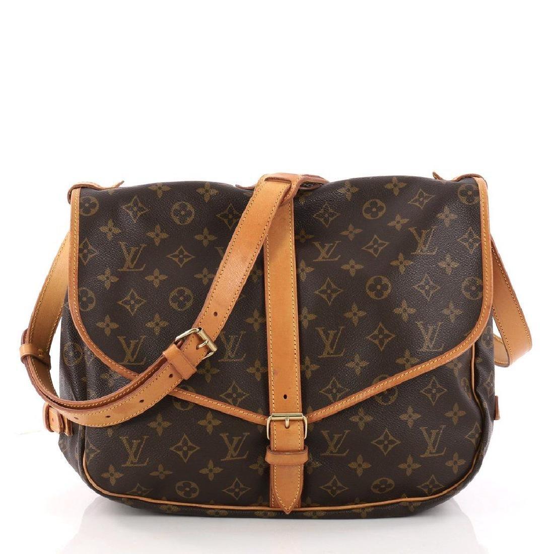 Louis Vuitton Monogram Saumur 35 GM Postal Shoulder Bag - 3