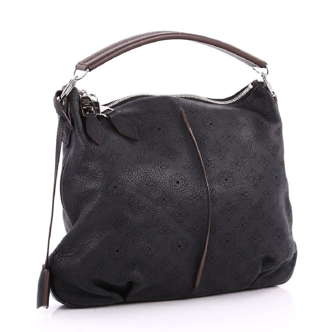 Louis Vuitton Selene Mahina Handbag Pm Black Brown - 4