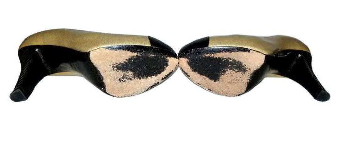 Classy Chanel Gold Black Glitter Staircase Two Tone - 10