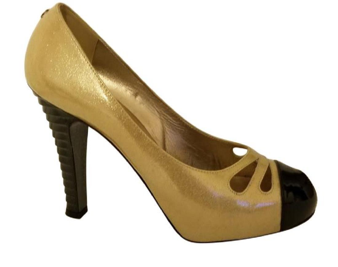 Classy Chanel Gold Black Glitter Staircase Two Tone - 4