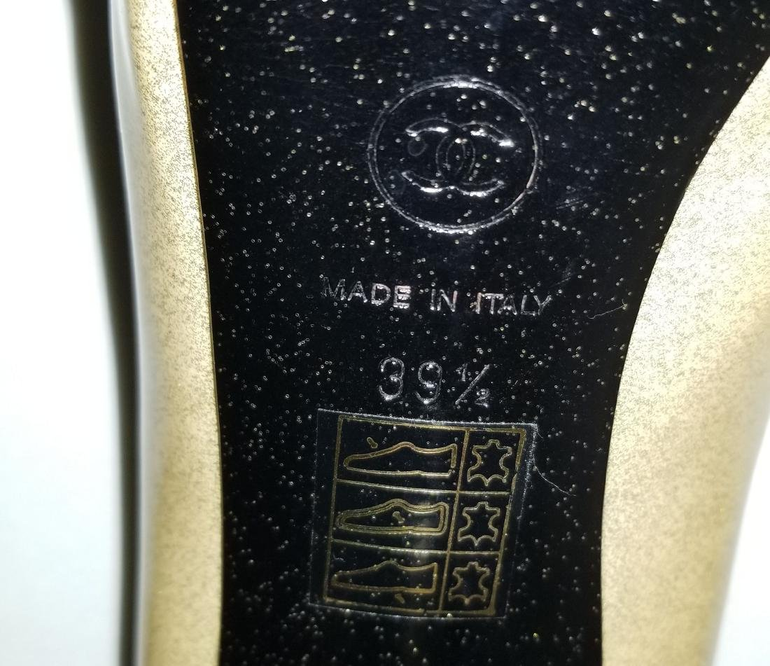 Classy Chanel Gold Black Glitter Staircase Two Tone - 8