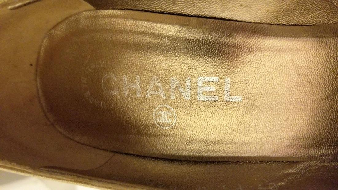 Classy Chanel Gold Black Glitter Staircase Two Tone - 9