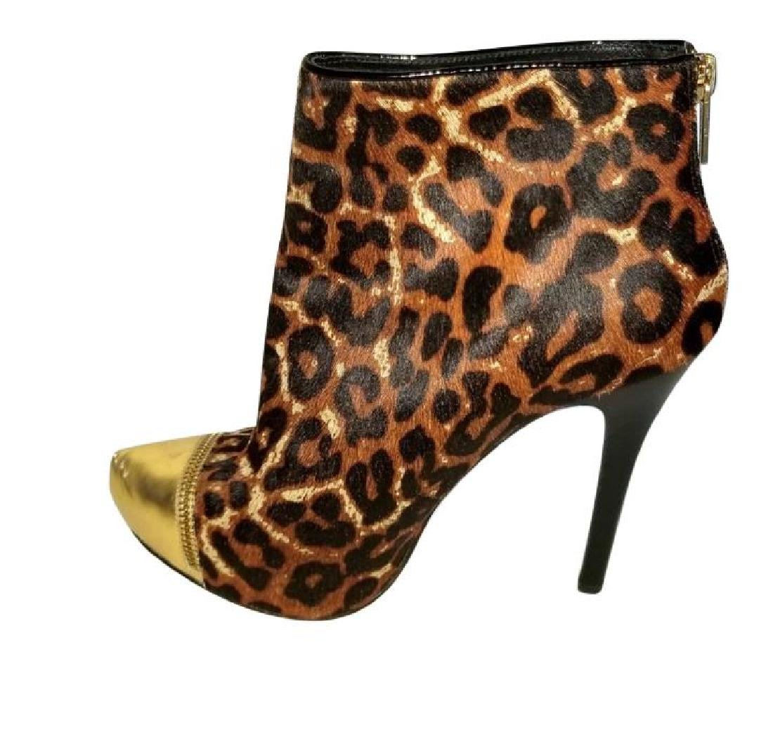 Michael Kors Dyed Fur Hair Gold Cynthia Booties Shoes - 3