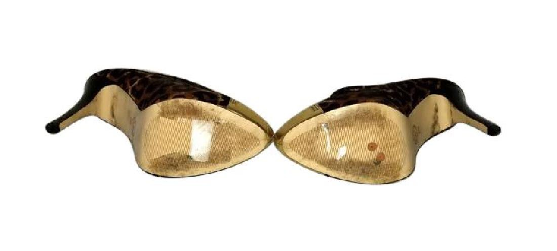 Michael Kors Dyed Fur Hair Gold Cynthia Booties Shoes - 8