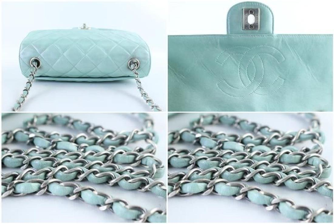 Chanel Classic Flap Iridescent Mint Blue Green Quilted - 10