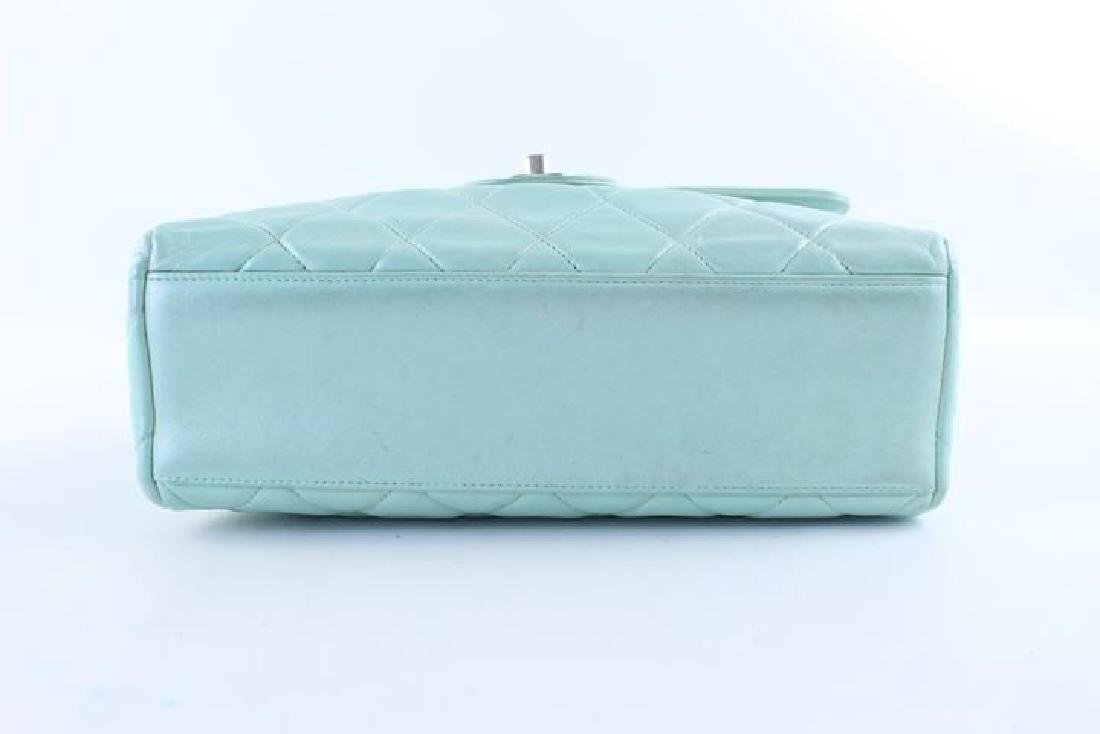 Chanel Classic Flap Iridescent Mint Blue Green Quilted - 2