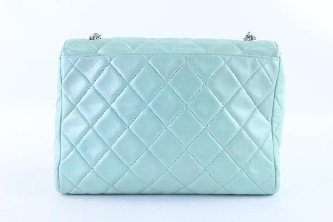 Chanel Classic Flap Iridescent Mint Blue Green Quilted - 3