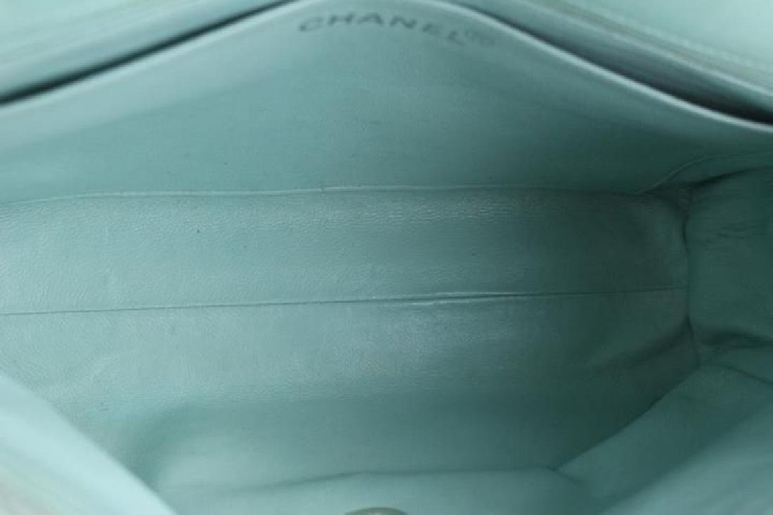 Chanel Classic Flap Iridescent Mint Blue Green Quilted - 4