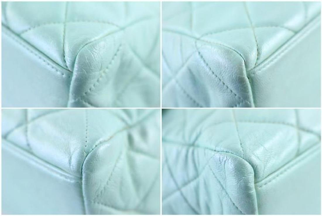 Chanel Classic Flap Iridescent Mint Blue Green Quilted - 6