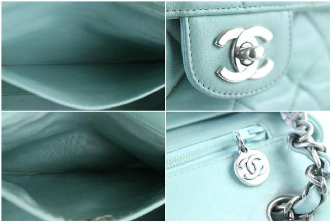 Chanel Classic Flap Iridescent Mint Blue Green Quilted - 9